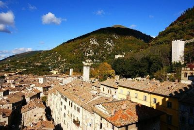 View from Palazzo dei Consoli - Gubbio