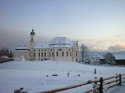 Wies Church - Bavaria, on a beautiful winter's day