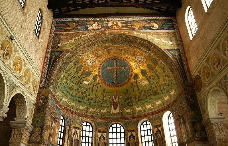 Sant'Apollinare in Classe - the magnificent apse - Milano Marittima