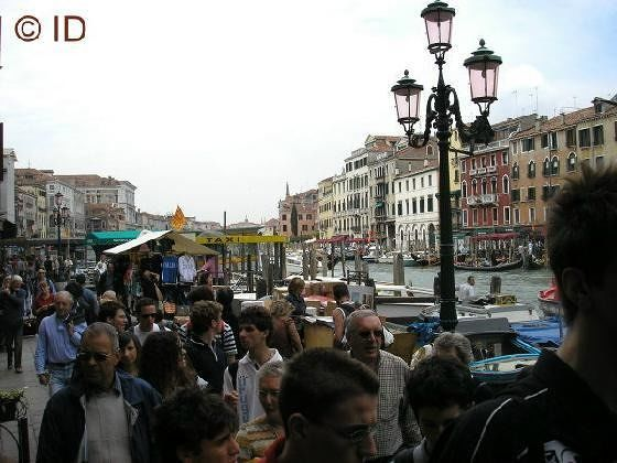 Traffic jam near Ponte Rialto - Venice