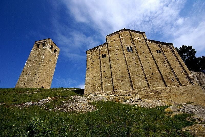San Leo's duomo and campanile - San Leo