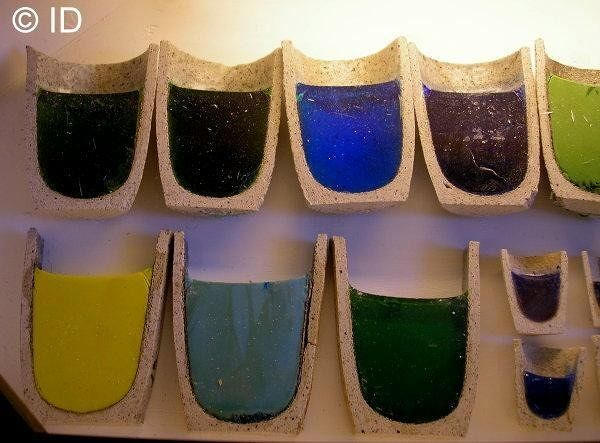 Different colours of molten glass (museum) - Italy
