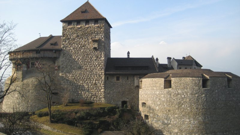 Vaduz Castle of Liechtenstein 1100s AD