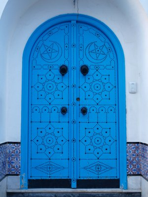 Nice Blue Door at Sidi Bou Said
