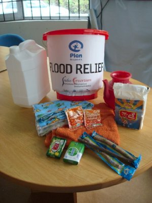 Flood relief hygiene kit