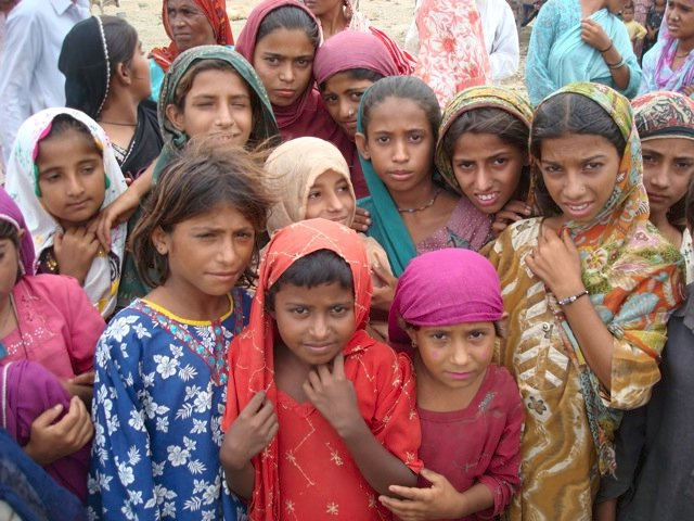 More girls in flood relief camp