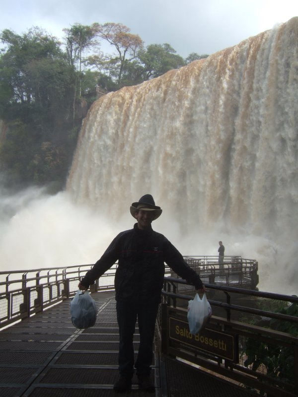 Hugh in front of fall at Iguazú