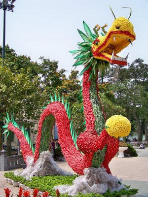 dragon of flowers front