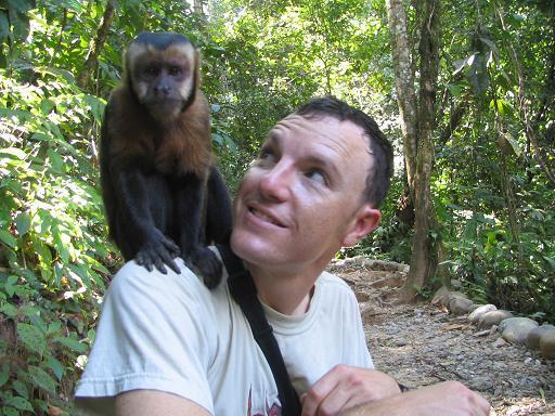Monkeying around at an animal sanctuary