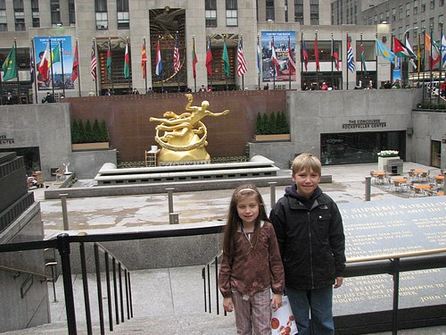 At the Rockefeller Center.