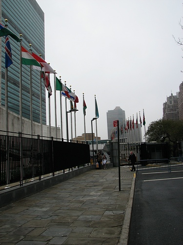 Outside the United Nations Building