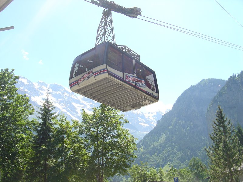 Cable Car up to Mirren and Mt. Piz