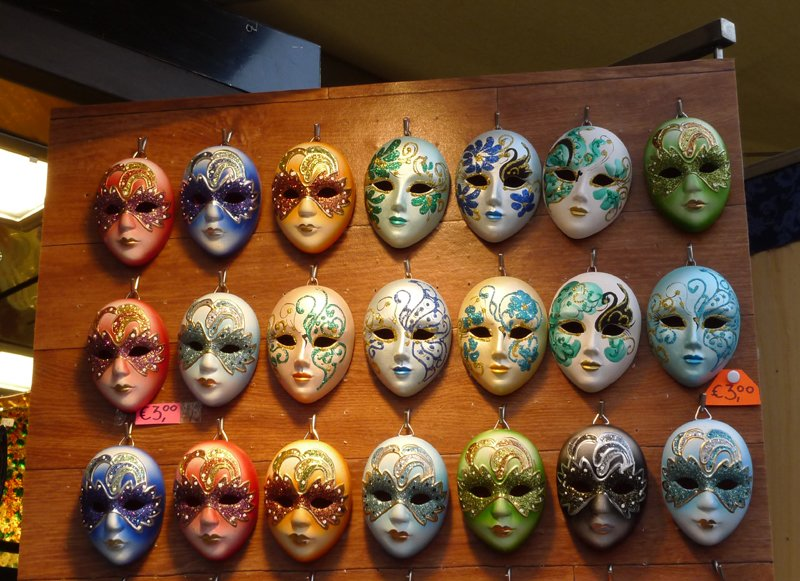 Colourful faces