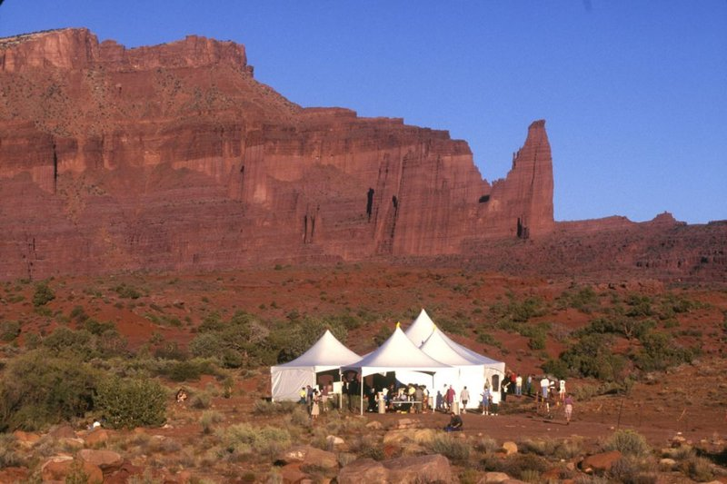 Event Tent in Moab Red Rocks