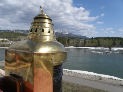 From the Klondike deck, a view of the Yukon River
