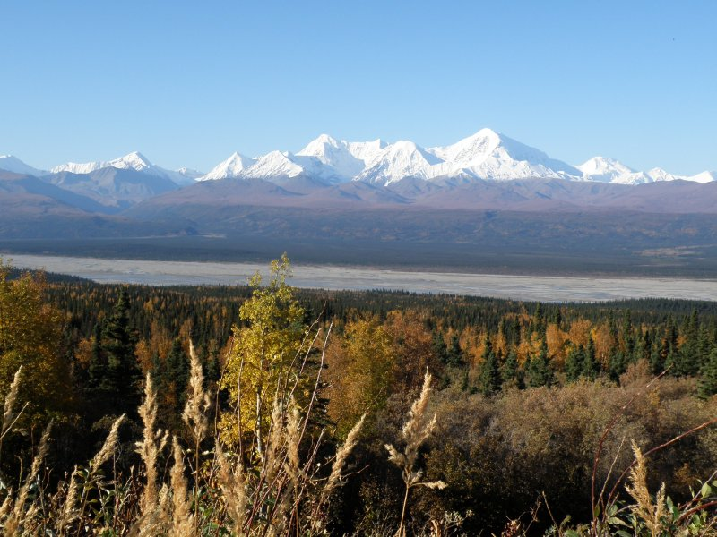 Alaska Range view from Richardson Highway