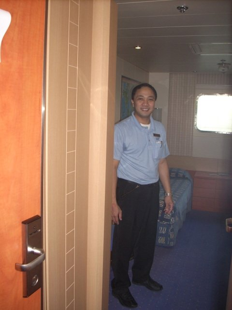 Achiles, my room steward, from the Philipines