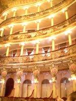 Inside of Opera House in Manaus Brazil
