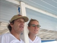 Boat manager and Anna, the English speaking Guide from Berlin