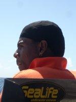 Cute boat worker