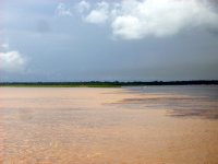 Meeting of waters  - Amazon River and Rio Negro
