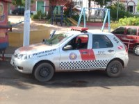 Police car in Santarem, Brazil