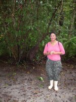 our guide on the jungle forest walk