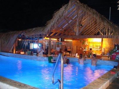 Guava Grove Pool bar in evening