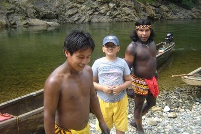 My son and the Embera Indians