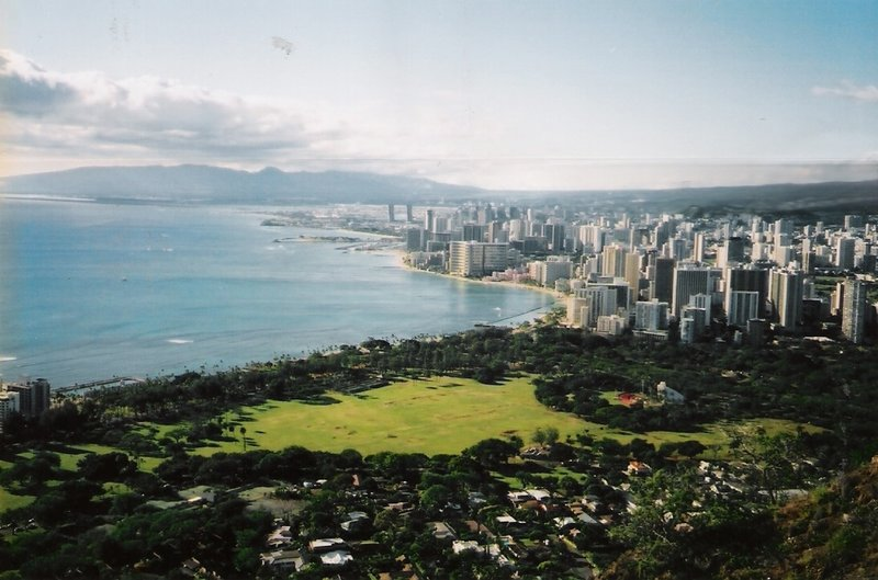 View from Diamond Head, Oahu