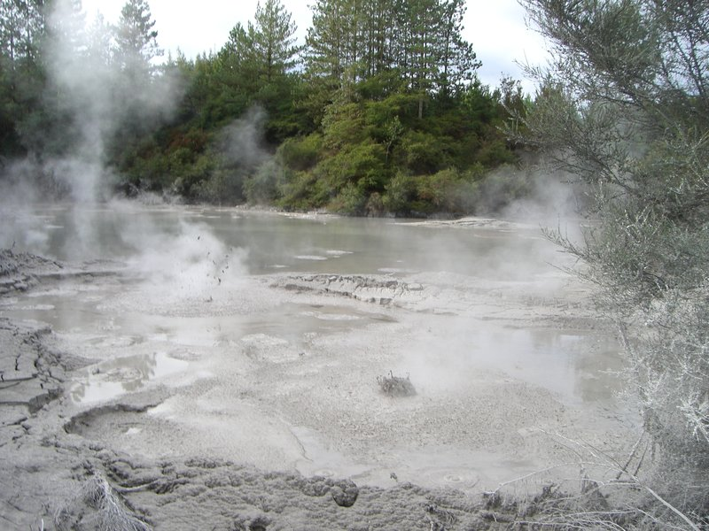 Boiling mud - down a dirt track and for free!