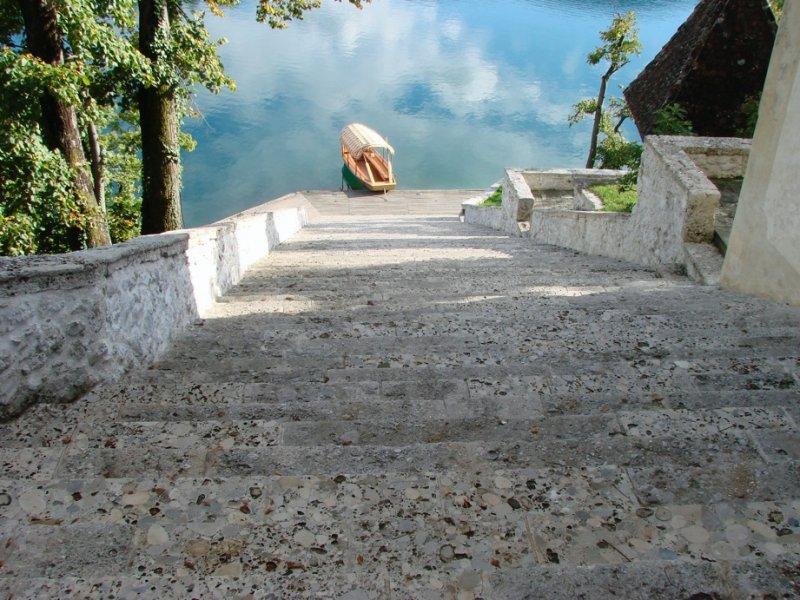 Bled Church Stairway