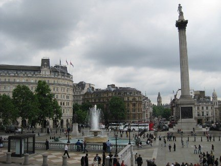 Trafalgar Square - Big Ben and Nelson's Column