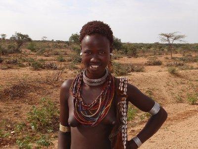 South American Tribal Girls A girl near turmi