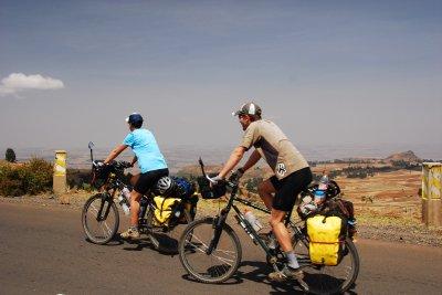 Us - cycling hard!