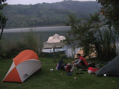 Kit Explosion on the shore of Lake Bunyonyi