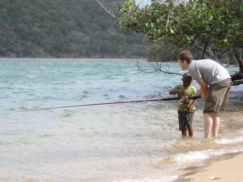 Kosi fishing.