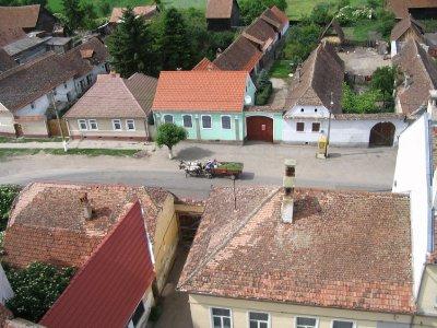 Vue de la tour, église fortifiée