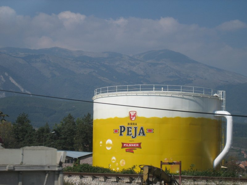 Big-time brewery in Peja
