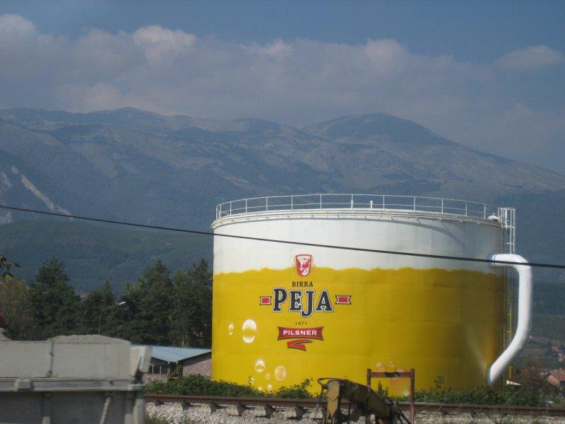 Big-time brewery in Peja