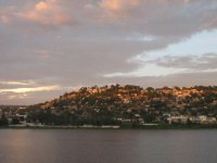 Sun setting on Mwanza, Lake Victoria