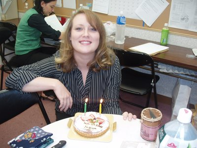 Me and my birthday cake at work