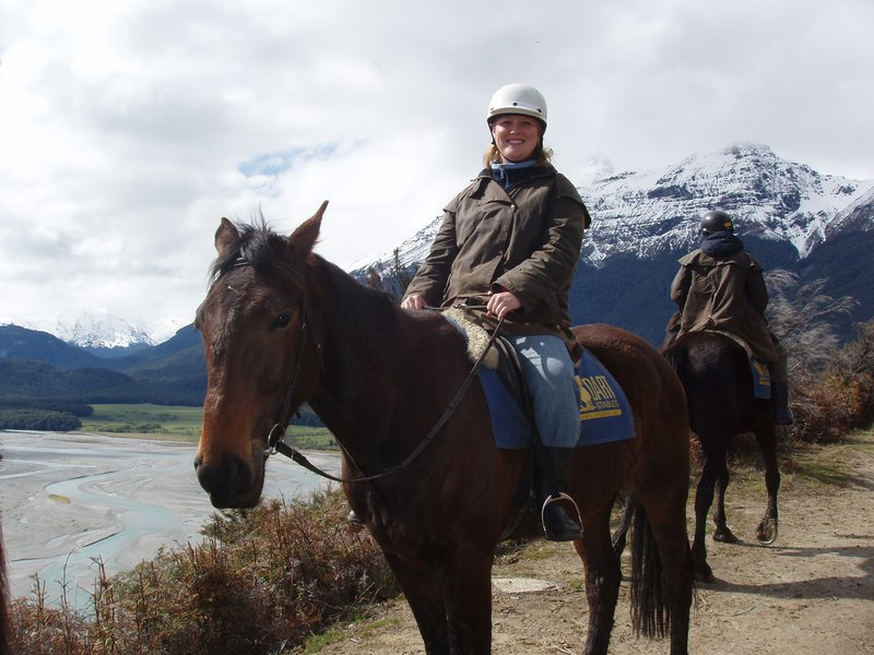 Riding horses in the mountains of Glenorchy
