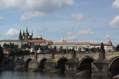 A view of the Charles Bridge