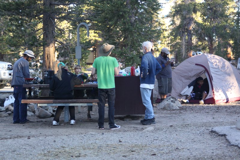 Dinner at the trailhead