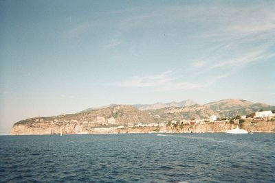 view of Capri from the boat