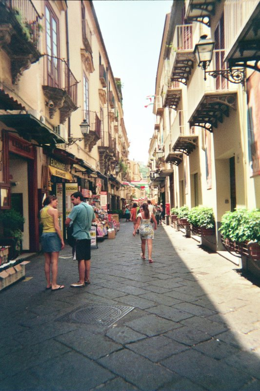 Summer Street Scene in Sorrento Italy