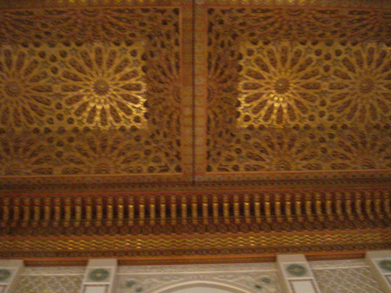 Carved Ceiling Hassan II