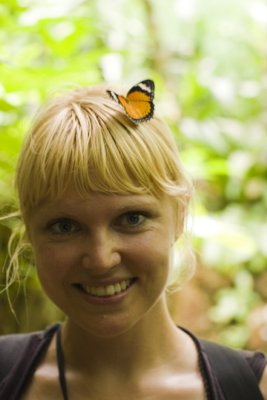 Christy with butterfly hairclip