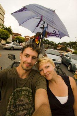 Us on rickshaw